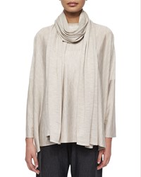 Eskandar Jersey Knit Long Scarf Women's