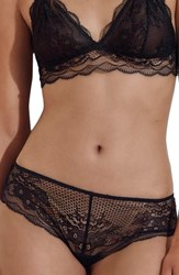 J.Crew Cheeky Scalloped Lace Hipster Briefs Black