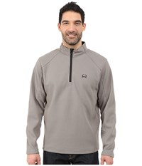 Cinch Sweater Fleece 1 4 Zip Pullover Grey Men's Sweatshirt Gray
