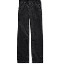 Norse Projects Charcoal Evald Cotton Corduroy Drawstring Trousers Gray