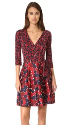 Diane Von Furstenberg Jewel Wrap Dress Montage Mini Rubiate Montage R