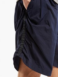 Kolor Blue Tape Detail Shorts Navy