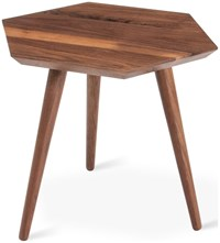Gus Design Group Metric End Table Solid Walnut Multicolor