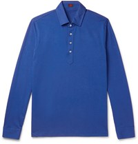 Massimo Piombo Mp Slim Fit Cotton Jersey Polo Shirt Blue