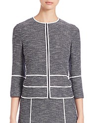 Lafayette 148 New York Aisha Tweed Jacket Navy