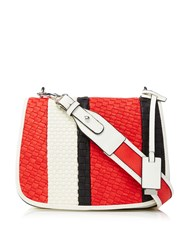 Marella Gentile Three Colour Cross Body Bag White