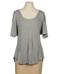 L'agence Short Sleeve T Shirts Grey