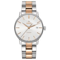 Rado R22860022 Unisex Coupole Classic Automatic Date Two Tone Bracelet Strap Watch Silver Rose Gold
