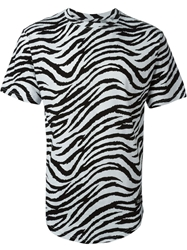 Les Artists Les Art Ists 'Tisci 74' Zebra Print T Shirt White