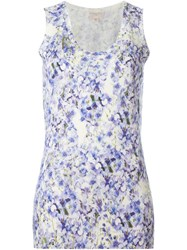 Giambattista Valli Floral Print Knit Top Pink And Purple