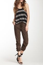 Level 99 Drawstring Cargo Pant Brown