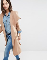 Only Soft Wrap Coat Simply Taupe Beige