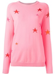 Chinti And Parker Slouchy Star Jumper Pink Purple