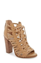 Jessica Simpson Women's Riana Lace Up Bootie Sand Castle Leather
