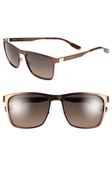 Hugo Boss 57Mm Polarized Sunglasses Matte Brown