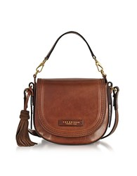 The Bridge Medium Leather Messenger Bag W Tassels Brown