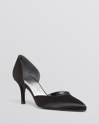 Stuart Weitzman Pointed Toe D'orsay Evening Pumps Twice Black