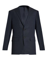 Ermenegildo Zegna Single Breasted Wool Blazer Navy