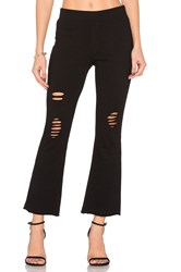 Pam And Gela Cropped Flare Pant Black