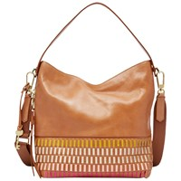 Fossil Maya Small Leather Hobo Bag Multi