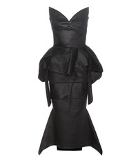 Maticevski Trilogy Linen Dress Black