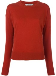 Vince Boxy Jumper Red