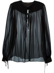 Roberto Cavalli Sheer Blouse Black
