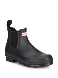 Hunter Original Short Slip On Rain Boots Midnight Black