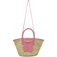 Jacquemus Beige And Pink Le Panier Soleil Tote