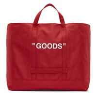 Off White Red Quote Tote