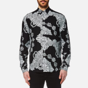 Mcq By Alexander Mcqueen Men's Sheehan Paisley Shirt Black Scarf Paisley