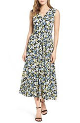 Chaus Women's Bouquet Terrain Tie Waist Midi Dress
