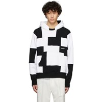 Ambush Black And White Panel Hoodie