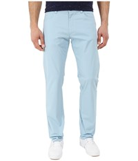 Calvin Klein Slim Fit Bowery 4 Pocket Brushed Pant Aqua Stone Men's Casual Pants Blue