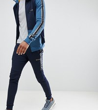 Nicce London Skinny Joggers In Navy With Side Stripe Exclusive To Asos