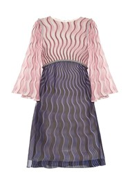 Mary Katrantzou Belle Snuffbox Print Silk Crepe Mini Dress Pink Multi