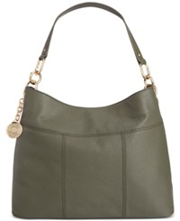Tommy Hilfiger Th Signature Leather Small Hobo Olive