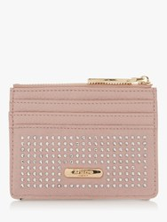 Dune Kaciia Sudded Zip Top Card Holder Blush