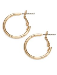 Design Lab Lord And Taylor Hinge Hoop Earrings Gold