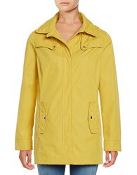 Weatherproof Quilt Accented Hooded Jacket Tropical