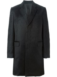 Les Hommes Classic Single Breasted Coat Black