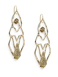 Alexis Bittar Miss Havisham Kinetic Tiered Green Tourmaline And Labradorite Doublet Earrings