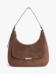 Coccinelle Cher Suede Shoulder Bag Chocolate