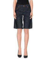 Galliano Denim Denim Bermudas Women Blue