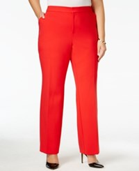 Inc International Concepts Plus Size Straight Leg Pants Only At Macy's Real Red