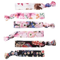Jane Tran Hair Ties Pack Of 6 Floral