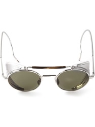 Thom Browne Round Frame Sunglasses Metallic