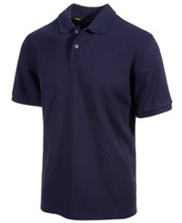Club Room Short Sleeve Solid Estate Performance Sun Protection Polo Navy Blue