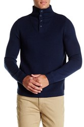 Zachary Prell Leicester Square Neck Wool Sweater Blue