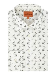 Simon Carter Men's Pelican Print Jagger Shirt White
